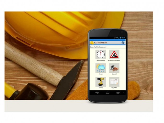 123erfasst.de-App (Bild: Sander Software)