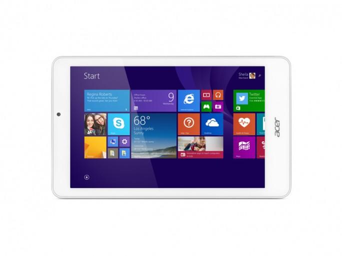 Mit dem Acer Iconia Tab 8W kommt ein weiters Windows-Tablet mit Office-365-Jahreslizenz auf den Markt (Bild: Acer).