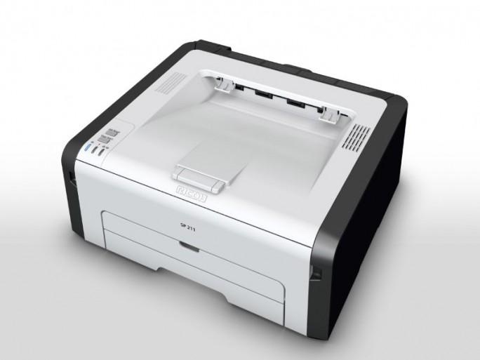 Der SP 211 ist der kleinste der aktuellen Neuzugänge für Ricohs Angebot an Laserdruckern für KMU (Bild: Ricoh).