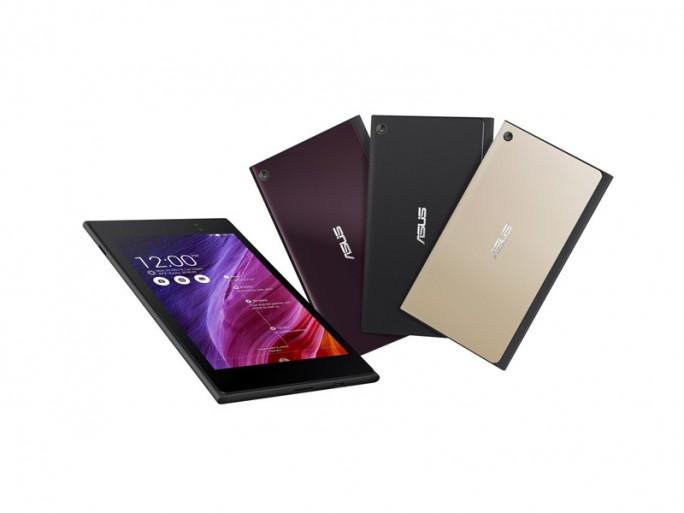Das Asus Memo Pad 7 ist mit einem 7-Zoll-FHD-Display, einer 64-Bit-Intel-Atom-CPU, 2 GByte RAM, 16 GByte Speicher, microSD-Kartenslot, einer 5-Megapixel-P-Kamera, wahlweise LTE und immer Android 4.4 als Betriebssystem ausgestattet (Bild: Asus).
