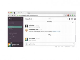 Gotomeeting in Slack-Diskussion