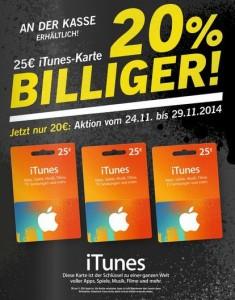 iTunes Karten bei Lidl (Screenshot: ITespresso)