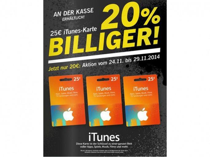 iTunes-Karten bei Lidl (Screenshot: ITespresso)