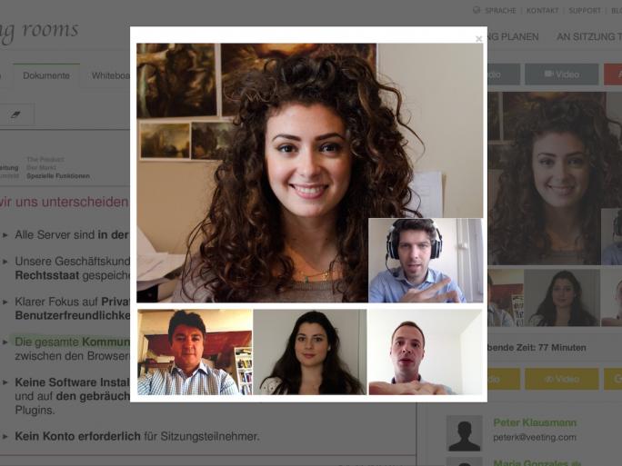 meeting-video-de (Screenshot: Veeting AG)