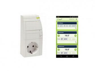 Mobilcom-Debitel-Steckdose und Heizungs-App (Bild: Mobilcom-Debitel)