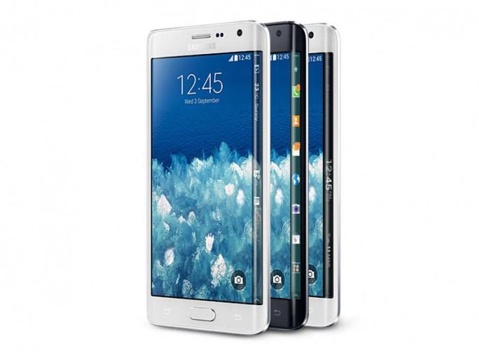 Das Samsung Galaxy Note Edge zeichnet sich vor allem durch den an einer Kante gekrümmten Bildschirm aus (Bild: Samsung).