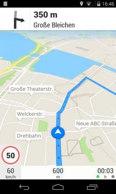 Navigation mit der App Scout auf einem Android-Smartphone (Bild: Telenav).