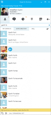 Chat bei Skype fo Business (Bild: Microsoft)