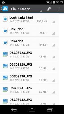 Cloud Station für Android: Die App unterstützt sogar die Hintergrund-Synchronisation – das kann nicht mal Dropbox (Screenshot: Christian Lanzerath).