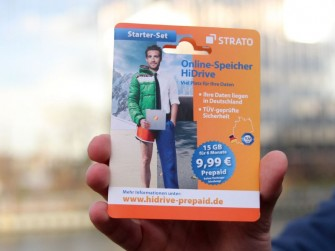Das Starterpaket von Strato HiDrive (Bild: Strato)