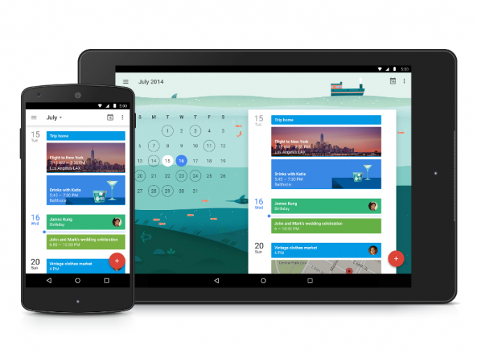 Googles Kalender-App unter Android 5.0 Lollipop (Bild: Google).