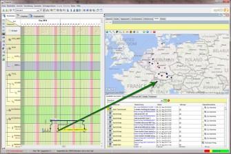 Anbindung an Bing Maps im Disponenten-Modul der Software der MobileX AG (Bild: MobileX)