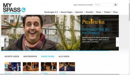 Die zahlreichen Produktionen von Brainpool können Sie auf MySpass.de sehen (Screenshot: Christian Lanzerath).