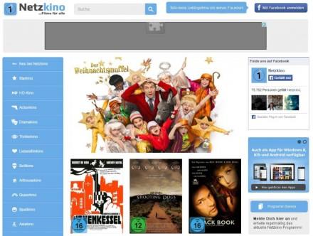 Gratis-Blockbuster: Netzkino hat zahlreiche sehenswerte Kinofilme gratis im Angebot (Screenshot: Christian Lanzerath).