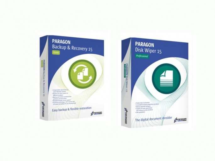 Paragon Backup&Recovery 15 Home und Diskwiper15 (Bild: Paragon