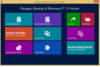 Paragon Backup&Recovery 15 Home (Screen: Paragon)