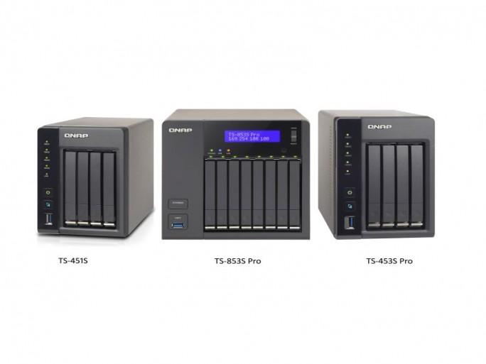 Qnap TS-451S, TS-853S und TS-454S (Bild: Qnap)