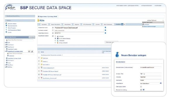 Secure Data Space Screen