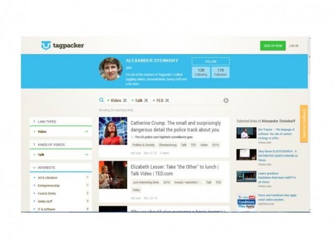 Tagpacker-Beispiel (Screen: Tagpacker)