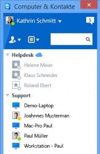 Teamviewer 10 bietet auch die Möglichkeit, Profilbilder zu verwenden (Bild: Teamviewer).