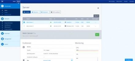Die Administrationsoberfläche für den 1&1 Cloud Server (Screenshot: 1&1)