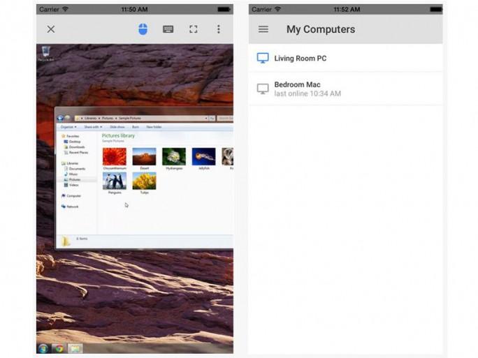 Chrome Remote Desktop App für iOS (Screenshit: ITespresso bei iTunes)