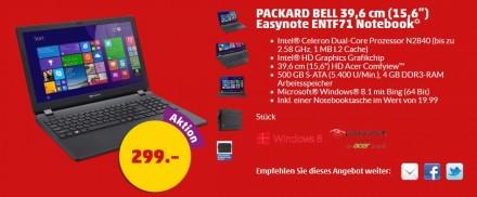 PackardBell EasynoteENTF71 Penny-Angebot (Screenshot: ITespresso)