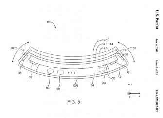 """Apple hat sich mit dem US-Patent 8.929.085 die Rechte an einem """"flexible elektronische Gerät"""" gesichert (Bild: USPTO)."""