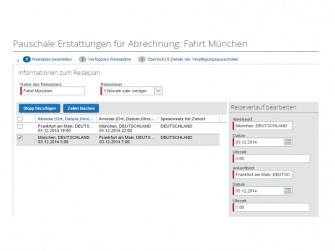 Concur Expense Express Pauschalen-Wizard (Bild: Concur)