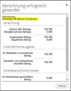 Concur Reisekostenabrechnung (Bild: Concur)