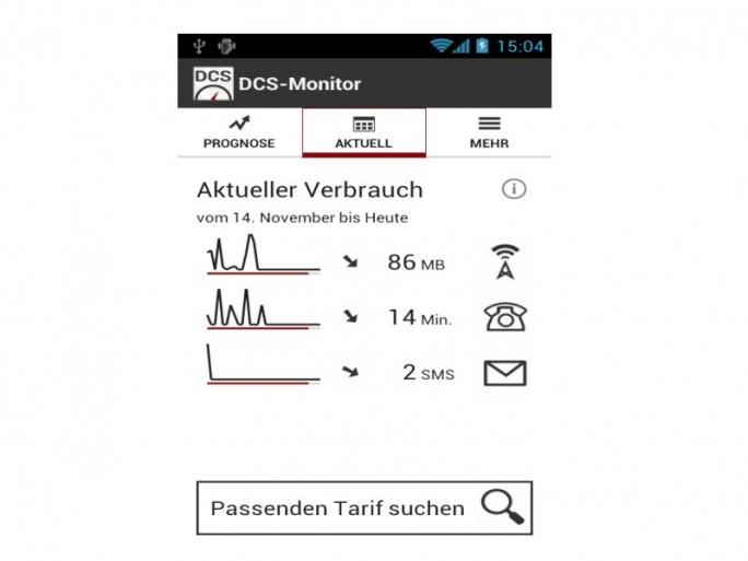 DCS Monitor Verbrauch