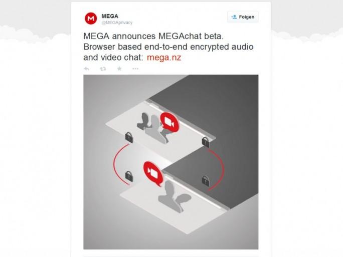 Audio- und Videotelefonate sichert MegaChat laut Ankündigung mittels Ende-zu-Ende-Verschlüsselung ab (Screenshot: ITespresso)