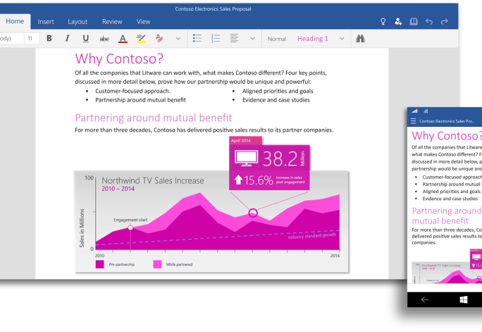 office-for-windows10-word (Bild: Microsoft)
