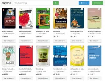 PaperC sucht Testnutzer für E-Book-Flatrate (Screenshot: ITespresso)