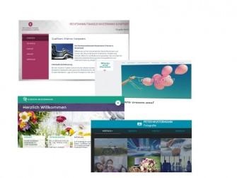 Vorlagen aus Stratos Homepage-Baukasten (Bilder: Strato)