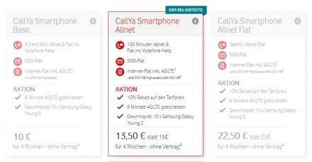 ... und die früheren Vodafone- Prepaid-Angebote (Grafik: Vodafone)