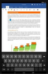 Finale Version von Microsoft Office für Android-Tablets ab sofort verfügbar (Bild: Microsoft).