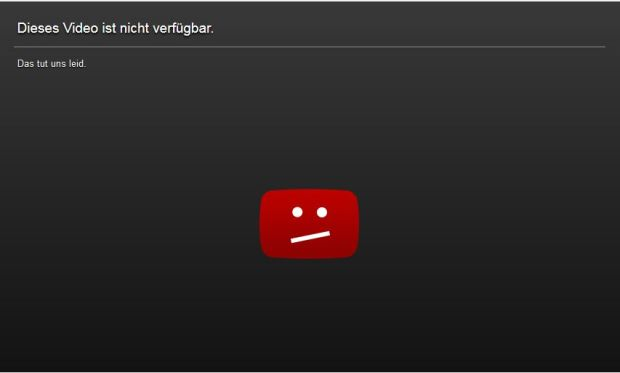 Sperrhinweis bei Youtube (Screenshot: ITespresso)