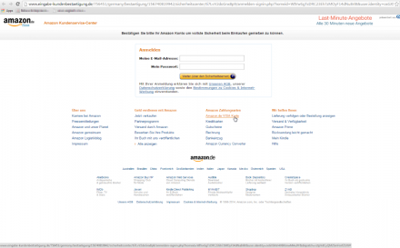 Retarus_Screenshot_Amazon_Phishing_Site (Screenshot: Retarus)
