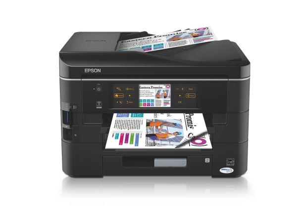 Epson Stylus Office BX925FWD: Der Tintenstrahler für kleine Unternehmen fasst bis zu 500 Blatt Papier, druckt doppelseitig und bietet auch einen drahtlosen Netzwerkanschluss (Bild: Espon).