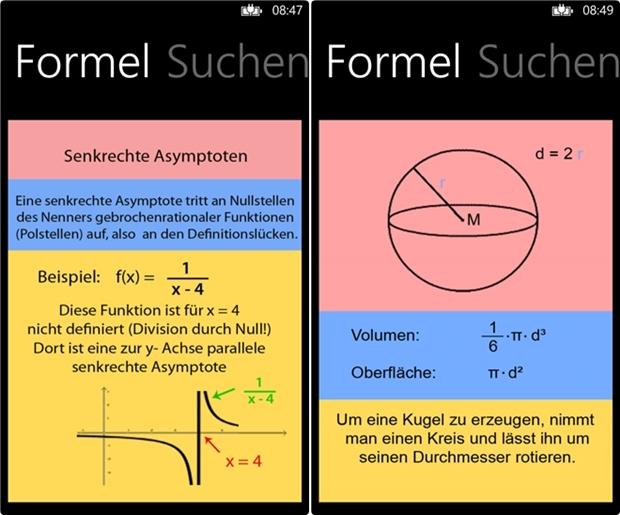 Formelsammlung (Screenshot: Mehmet Toprak)