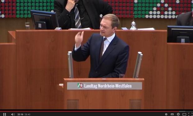 Die Wutrede von Christian Lindner wurde zum Internet-Hit (Screenshot: Mehmet Toprak bei Youtube).