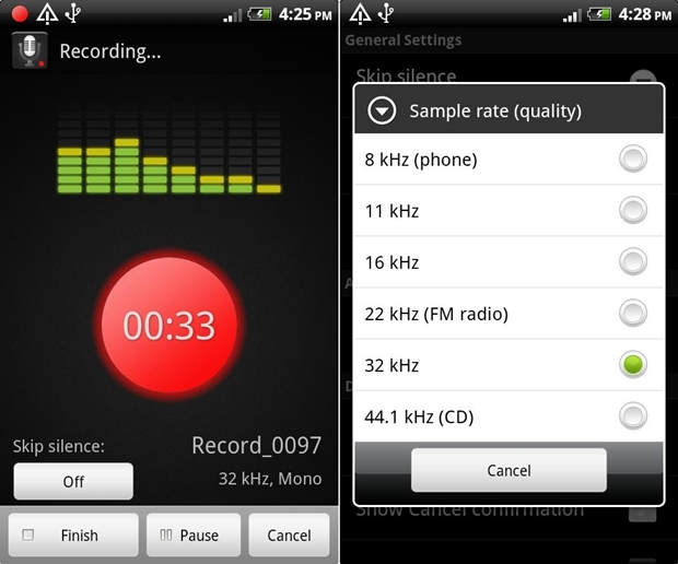 Smart Voice Recorder (Screenshot: Mehmet Toprak)