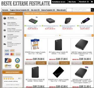 Website beste-externe-festplatten.com (Screenshot: ITespresso)