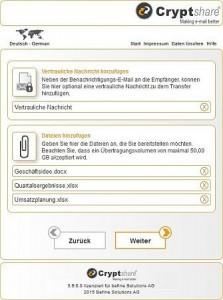 Cryptshare Dateiversand (Bild: Befine AG)