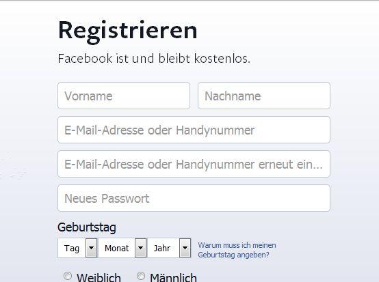 """Der VZBV stört sich auch an der Aussage auf der Facebook-Homepage, der Dienst sei """"kostenlos"""" (Screenshot: ITespresso)."""