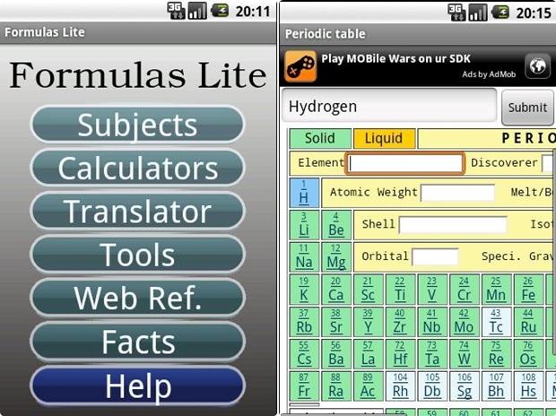 Formulas Lite (Screenshot: Mehmet Toprak)