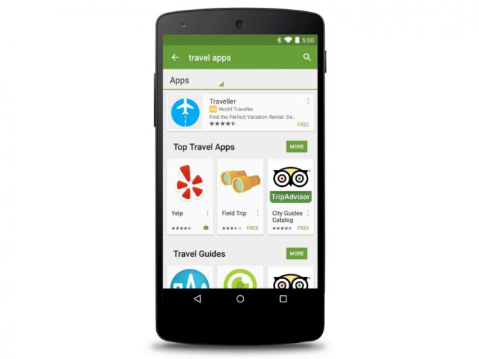 Google zeigt nun auch im Play Store Werbung an (Bild: Google).