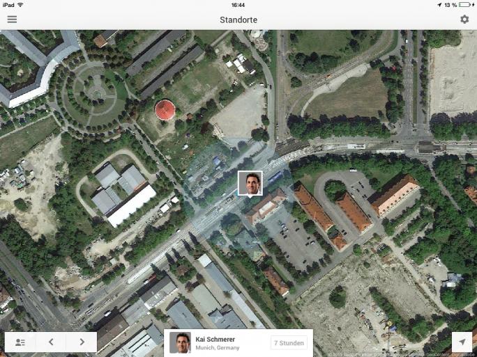 Google+ Standortfreigabe unter iOS (Screenshot: ZDNet)