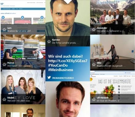 Erste Bewerbungen für den von O2 ausgerichteten Wettbewerb #MeinBusiness sind bereits eingegangen (Screenshot: ITespresso)